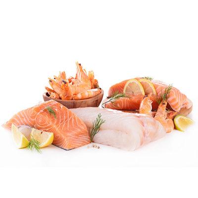 Świeże ryby i owoce morza