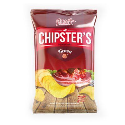Chipsy ziemniaczane o smaku bekonu CHIPSTER'S 60g